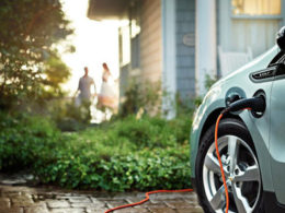 Peak-time demand changing home vehicle charging station