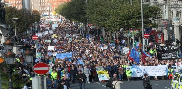 Ireland water meters national-water-protest-against-water