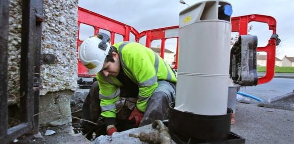 Ireland water meter protests against installation