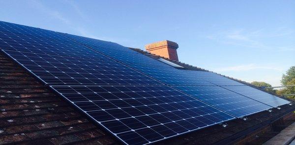 rooftop PV solar UK solar meter