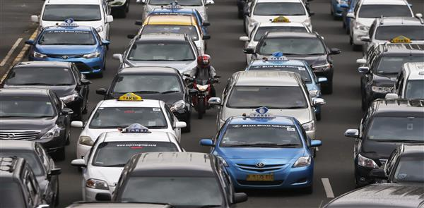 Jakarta smart city LED lighting congestion