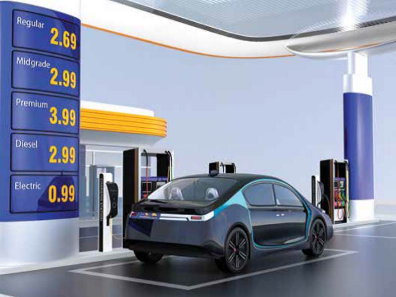 gas station to EV