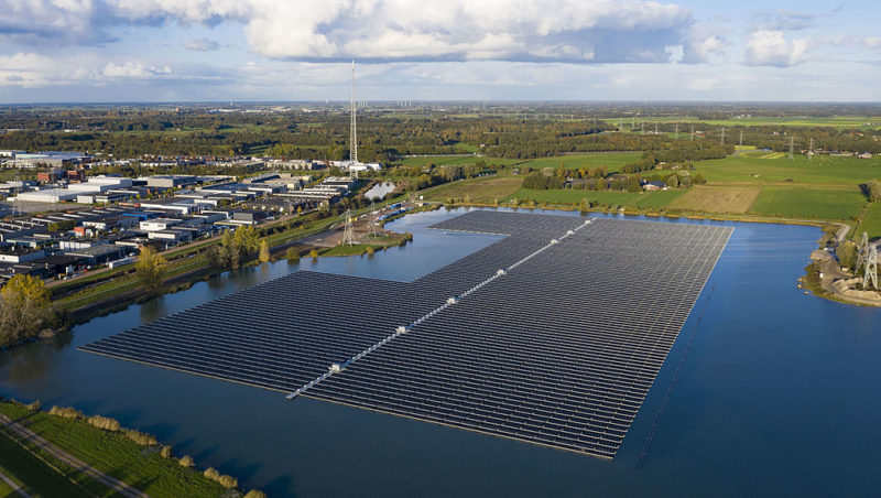 Largest floating solar farm in the Netherlands switched on