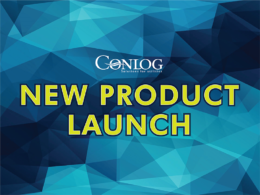 product launch conlog