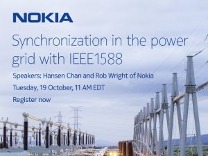Webinar 19 Oct: Synchronization in the power grid with IEEE1588