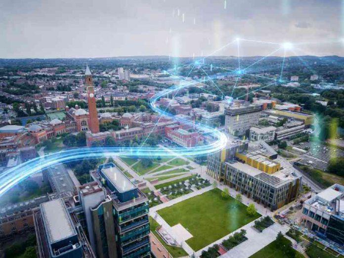 The University of Birmingham's Edgbaston campus in Birmingham, England.