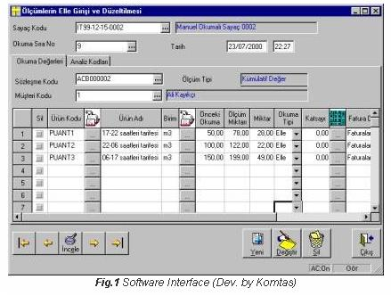 Software Interface - Electronic Meter Report