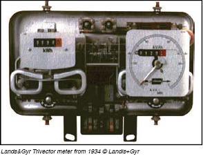 1934 Landis Trivector Meter (proper)