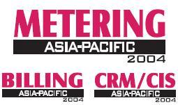 Metering, Billing, CRM/CIS Asia-Pacific 2004 logo