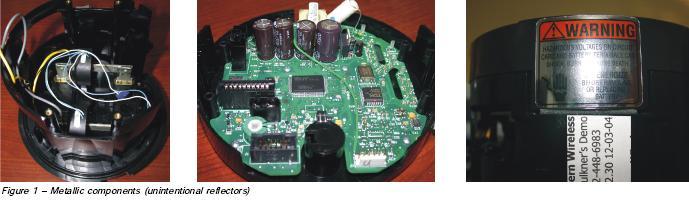 Metallic meter components