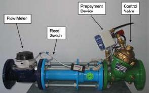 Bulk water prepayment device