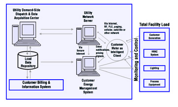 Figure 1: Remote meter reading with AMR - Utility and Customer Coexist