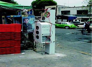 The consumption of electricity decreased by about 50% at the street markets where the cabinets were installed