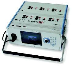 Figure 3: Portable test system PTS 400.3 with reference meter, source and control module.